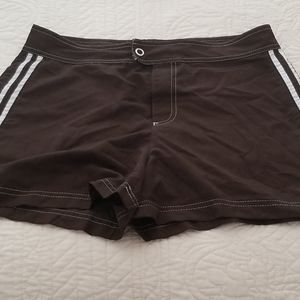 Brown swim shorts